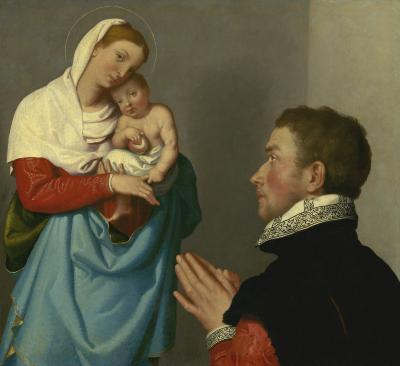 Image for A Gentleman in Adoration before the Madonna
