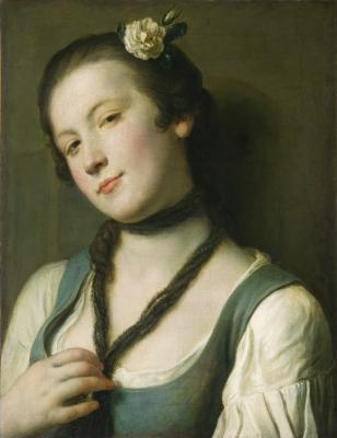 Image for A Girl with a Flower in Her Hair