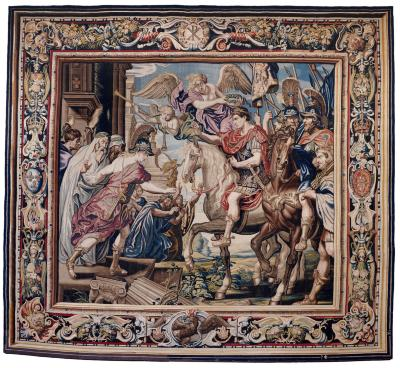 Image for Tapestry Showing Constantine's Triumphal Entry into Rome