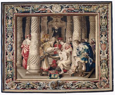 Image for Tapestry showing the Baptism of Constantine