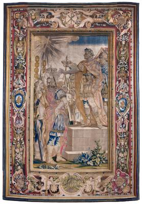 Image for Tapestry showing the Apparition of the Cross before Constantine