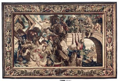Image for Tapestry showing the Triumph of Constantine over Maxentius at the Battle of the Milvian Bridge
