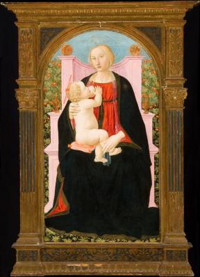 Image for Madonna Enthroned Nursing the Christ Child