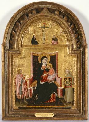 Image for Madonna and Child with Saints John the Baptist and Bernardino of Siena
