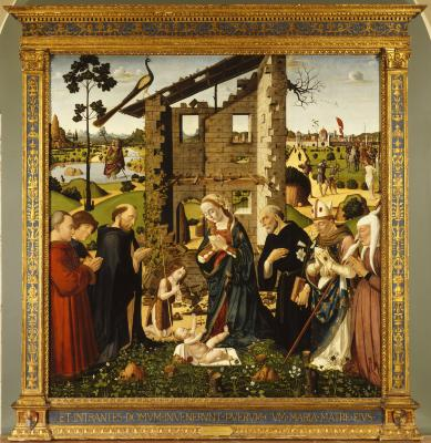 Image for The Adoration of the Child with Saints and Donors