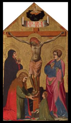 Image for The Crucifixion, with the Virgin Mary, Saint Mary Magdalene, Saint John the Evangelist, and a Female
