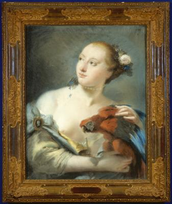 Image for Young Woman with a Parrot