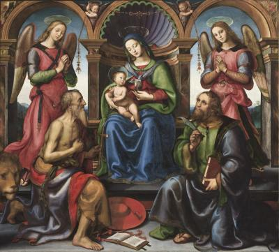 Image for Madonna Enthroned with Saints and Angels