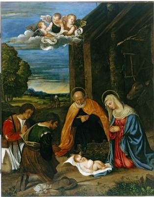 Image for The Nativity with Shepherds