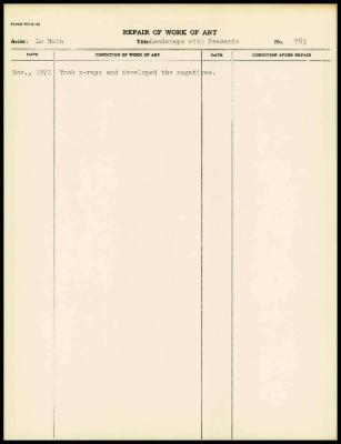 Image for K1392 - Work summary log, 1971