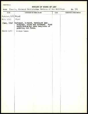 Image for K1303 - Work summary log, 1943-1970