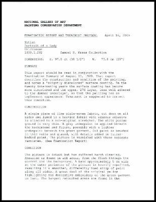 Image for K0512 - Examination summary and treatment proposal, 2009