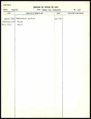 Image for K0262 - Work summary log, 1942-1943