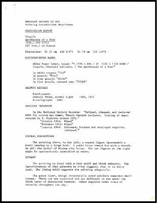 Image for K0213 - Examination summary, 1985