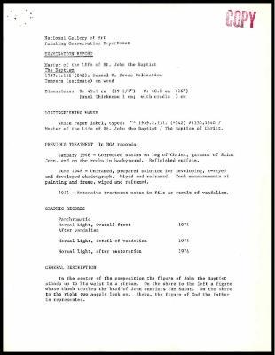 Image for K0264 - Examination summary, 1985