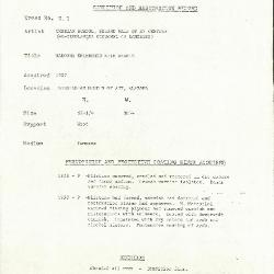 Image for K0001 - Condition and restoration record, circa 1950s-1960s