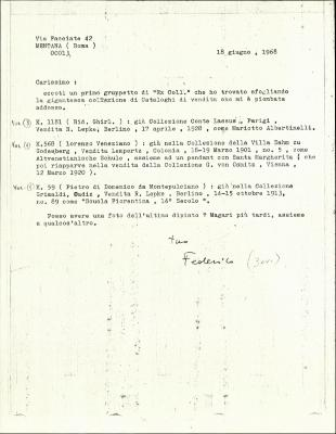 Image for K1181 - Expert opinion by Zeri, 1968