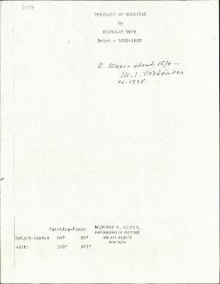 Image for K0141 - Expert opinion by Friedlaender, 1938