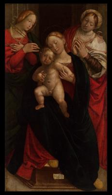 Image for Madonna and Child with Apollonia and Another Female Saint