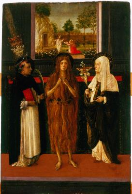 Image for Saint Mary Magdalen between Saint Peter Martyr and Saint Catherine of Siena