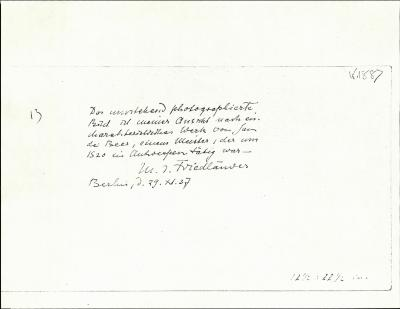 Image for K1887 - Expert opinion by Friedlaender, 1937