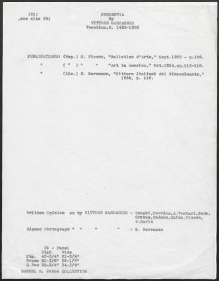 Image for K0021 - Art object record, circa 1930s-1950s