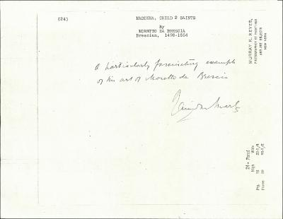 Image for K0024 - Expert opinion by Marle, circa 1920s-1930s