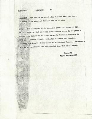 Image for K0025 - Alan Burroughs report, circa 1930s-1940s