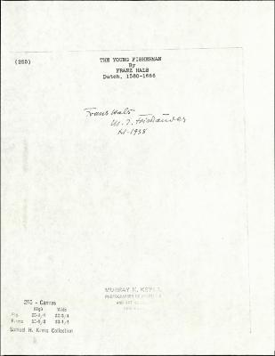 Image for K0255 - Expert opinion by Friedlaender, circa 1920s-1950s