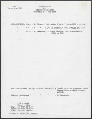Image for K0025 - Art object record, circa 1930s-1950s