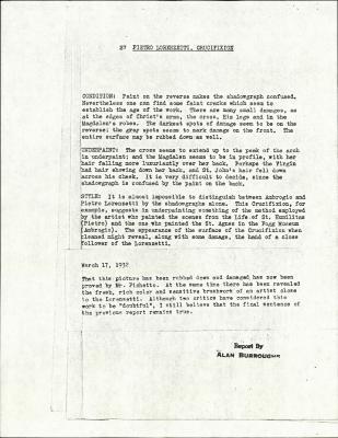 Image for K0027 - Alan Burroughs report, circa 1930s-1940s