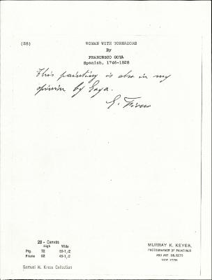 Image for K0028 - Expert opinion by Fiocco, circa 1930s-1940s