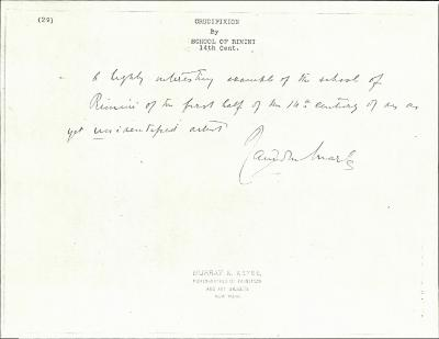 Image for K0029 - Expert opinion by Marle, circa 1920s-1930s