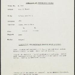 Image for KM004 - Condition and restoration record, circa 1950s-1960s