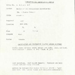 Image for K00M2 - Condition and restoration record, circa 1950s-1960s