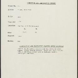 Image for K00X5 - Condition and restoration record, circa 1950s-1960s