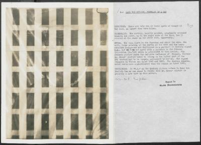 Image for K00X2 - Alan Burroughs report, circa 1930s-1940s
