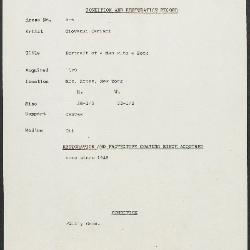Image for K00X6 - Condition and restoration record, circa 1950s-1960s