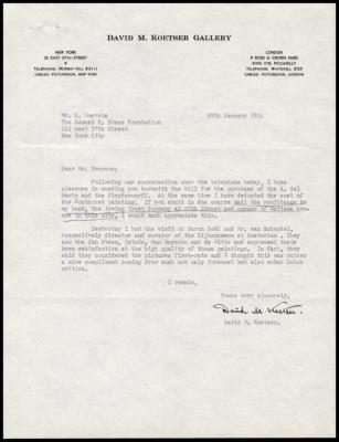 Image for David Koetser Gallery, January 29, 1954