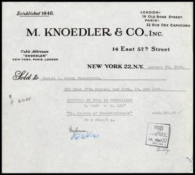 Image for M. Knoedler & Co., January 28, 1954[2]