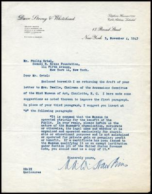 Image for Other documentation - Duer, Strong, and Whitehead (law firm), 1943-1965