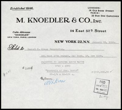 Image for M. Knoedler & Co., January 28, 1954 [4]