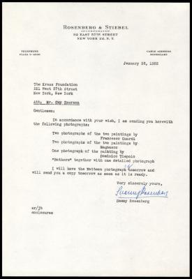 Image for Other documentation - Rosenberg & Stiebel, 1951-1956