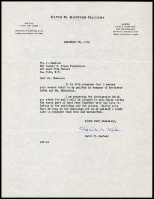 Image for Other documentation - David Koetser Gallery, 1951-1959