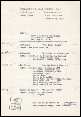 Image for Schaeffer Galleries, February 16, 1957