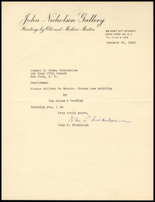 Image for Other documentation - John Nicholson Gallery, 1951-1952