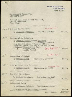 Image for Contini Bonacossi, Alessandro, March 4, 1932 [1]