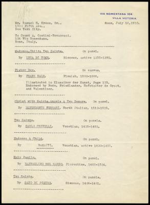 Image for Contini Bonacossi, Alessandro, July 16, 1930