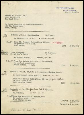 Image for Contini Bonacossi, Alessandro, July 15, 1931