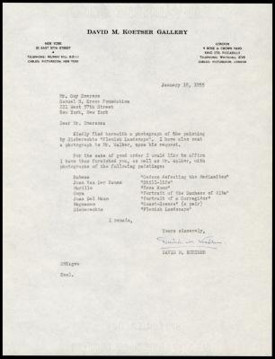 Image for David Koetser Gallery, February 8, 1955